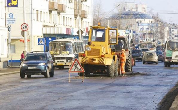 Ямочный ремонт на дорогах Архангельска
