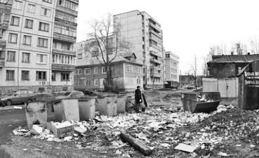 помойка на ул. Серафимовича в Архангельске