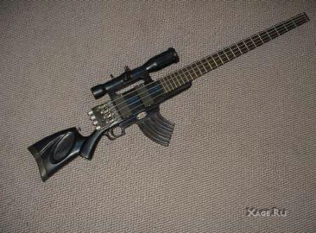 Гитара в Виде Винтовки